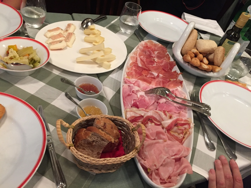 An amazing meal in Verona, and this was only the appetizer.